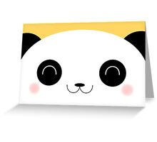 Peekaboo - Happy Kawaii Panda Card Version Greeting Card
