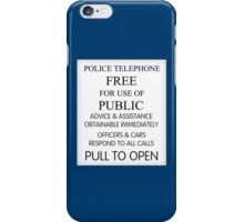 TARDIS - Door Sign iPhone Case/Skin