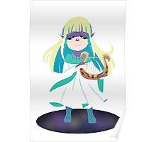 Skyward Sword Zelda (alternate coloring) Poster