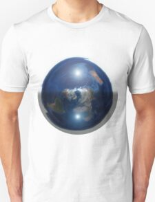 Beautiful Flat Earth with Sun & Moon Unisex T-Shirt