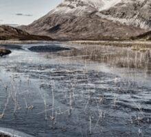 Arkle Mountain in Winter Sticker