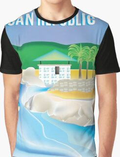 Dominican Republic- Skyline Illustration By Loose Petals Graphic T-Shirt