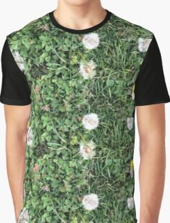 Dandelions, Clovers, and a Yellow Flower Graphic T-Shirt