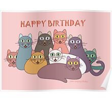 HAPPY BIRTHDAY by NINE CATS  Poster