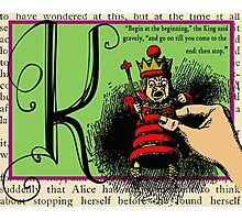 Alice in Wonderland and Through the Looking Glass Alphabet K Photographic Print