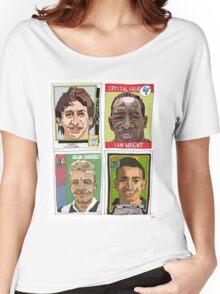 MOTD pundits - Retro Football Stickers Women's Relaxed Fit T-Shirt