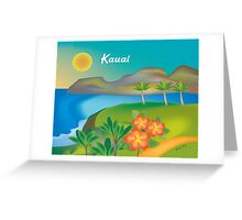 Kauai, Hawaii- Skyline Illustration By Loose Petals Greeting Card