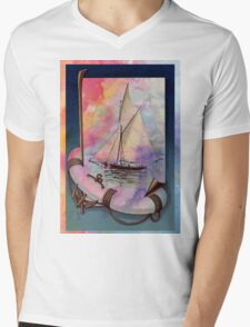 SUMMER SAILS Mens V-Neck T-Shirt