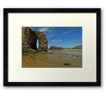 Arch Rock, Perranporth Beach Framed Print