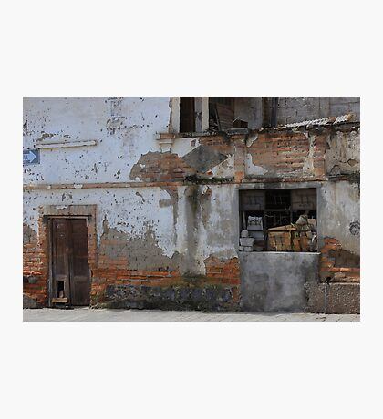 Old Building in Cotacachi Photographic Print