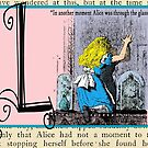 Alice in Wonderland and Through the Looking Glass Alphabet L by Samitha Hess Edwards