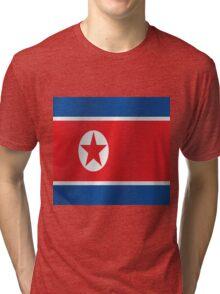 North Korea flag Tri-blend T-Shirt
