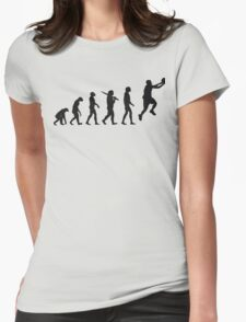 basketball evolution Womens Fitted T-Shirt