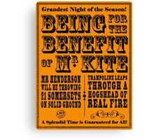 Being for the Benefit of Mr Kite - Colourway 1 Canvas Print