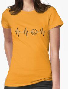 basketball heart beat Womens Fitted T-Shirt
