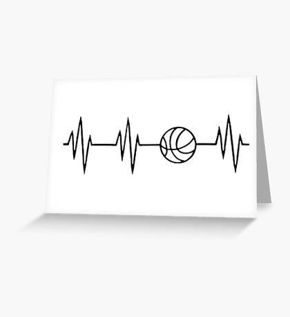 basketball heart beat Greeting Card