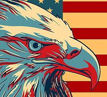 American Patriotic Eagle Bald by CroDesign