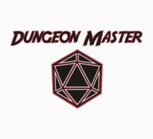 Dungeons Master Red and Black D20 Baby Tee