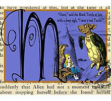 Alice in Wonderland and Through the Looking Glass Alphabet M Photographic Print