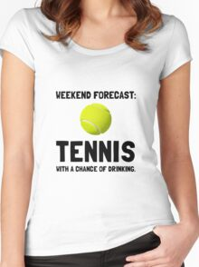 Weekend Forecast Tennis Women's Fitted Scoop T-Shirt