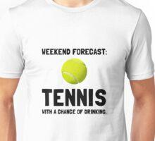 Weekend Forecast Tennis Unisex T-Shirt