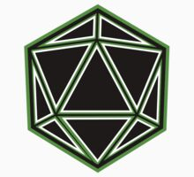Black and Green d20 Kids Tee