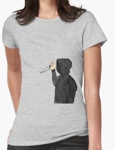 Psychopathic Knife Man Womens Fitted T-Shirt