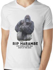RIP HARAMBE -  BLACK TEXT T-Shirt