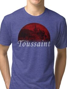 VISIT TOUSSAINT - Red Moon (The Witcher) Tri-blend T-Shirt