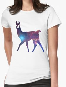 Space Llama Womens Fitted T-Shirt