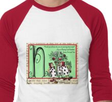Alice in Wonderland and Through the Looking Glass Alphabet N Men's Baseball ¾ T-Shirt