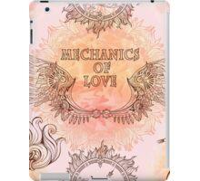 Seamless pattern of wings, heart and clockwork in steampunk style. iPad Case/Skin