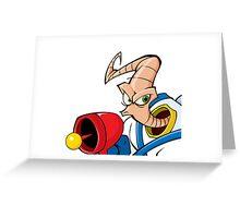 Earthworm jim Greeting Card