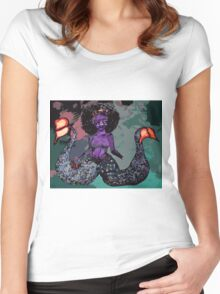Twin-Tailed Siren Women's Fitted Scoop T-Shirt