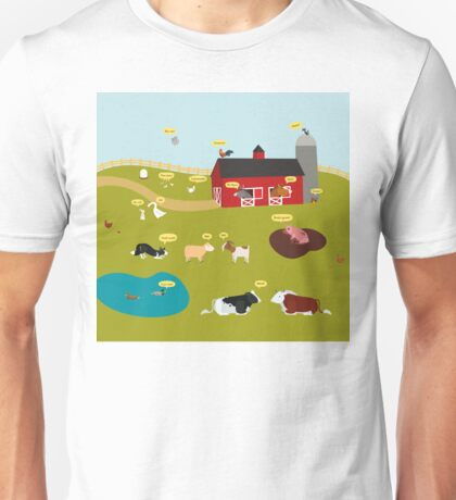 What do the farm animals say (French version) Unisex T-Shirt