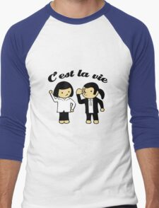 C'est la vie Men's Baseball ¾ T-Shirt