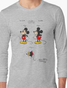 Mickey Mouse Patent - Colour Long Sleeve T-Shirt