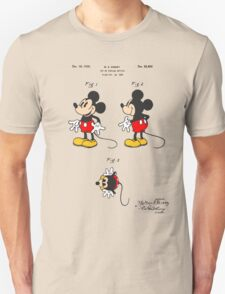 Mickey Mouse Patent - Colour Unisex T-Shirt