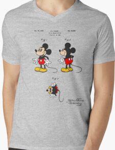 Mickey Mouse Patent - Colour Mens V-Neck T-Shirt