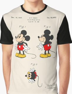 Mickey Mouse Patent - Colour Graphic T-Shirt