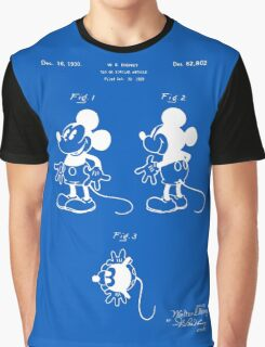 Mickey Mouse Patent - Blueprint Graphic T-Shirt