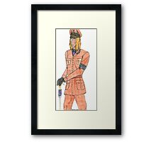 Colored Transformers Animated Blitzwing Holoform Framed Print
