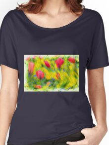 English Summer Flowers Pastel Women's Relaxed Fit T-Shirt