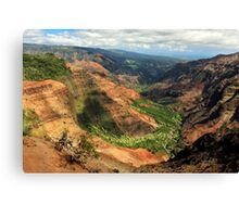 Waimea Canyon From The West Canvas Print