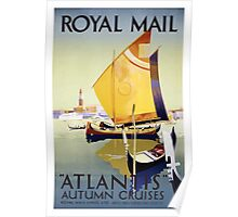 Royal Mail Atlantis Autum Cruises Venice Vintage Travel Poster Poster