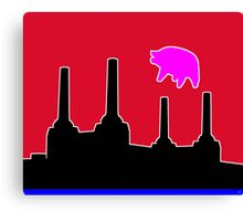 PINK FLOYD FLYING PIG OVER BATTERSEA Canvas Print