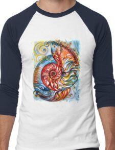 Nautilus Shell - Ornate Men's Baseball ¾ T-Shirt