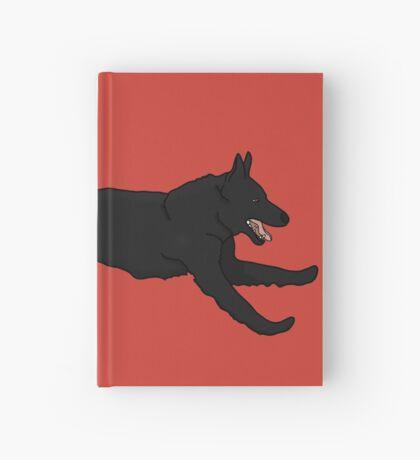 Black German Shepherd Running Hardcover Journal