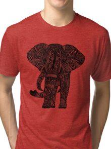 Zentangle Elephant Tri-blend T-Shirt
