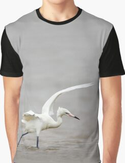 Reddish Egret Wading in Gulf Graphic T-Shirt